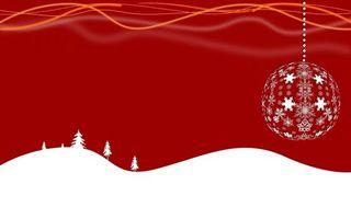 Фото бесплатно шар, висит, снежинки