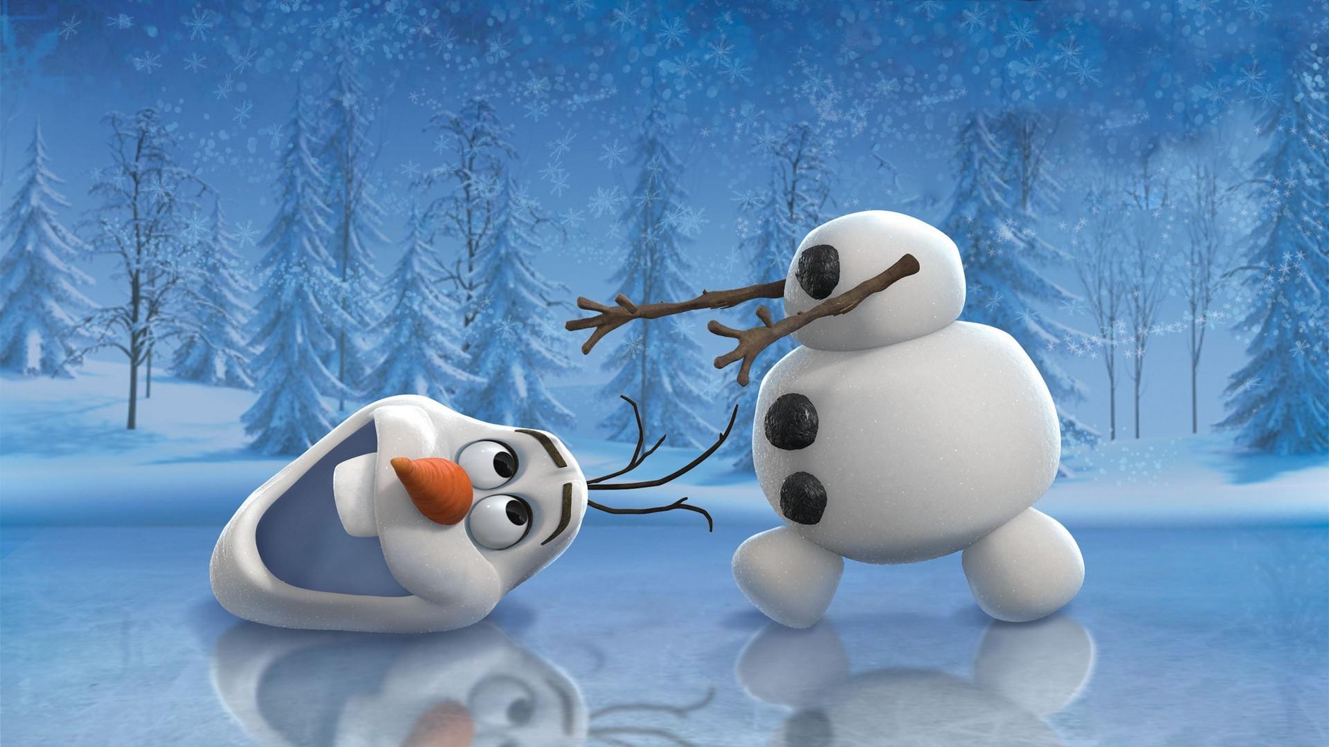 Обои снеговик, белый, лед, зима