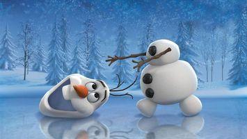 Бесплатные фото снеговик,белый,лед,зима,елки,снег,оторванная голова