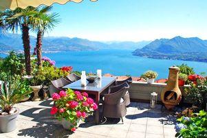 Фото бесплатно тропики, море, балкон, разное