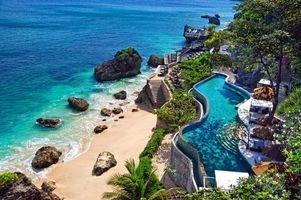Бесплатные фото тропики, море, пляж, бассейн, пейзажи
