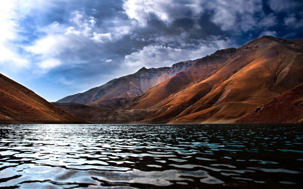 Фото бесплатно вода, море, океан, горы, берег, побережье, небо, облака, тучи, вершины, пейзажи, природа, природа