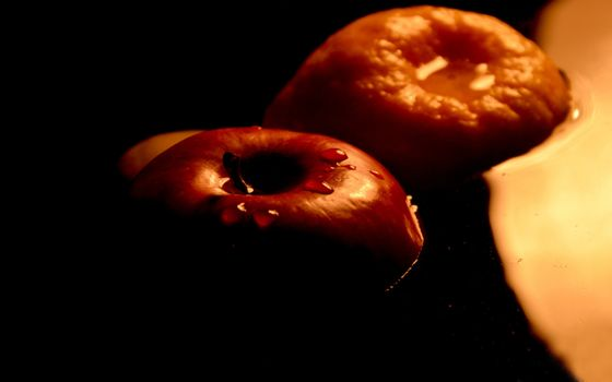Photo free apple, drops, liquid