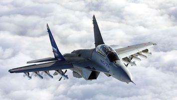 Бесплатные фото авиация,смамолёт,обои,миг - 35 fulcrum f,миг,истребитель