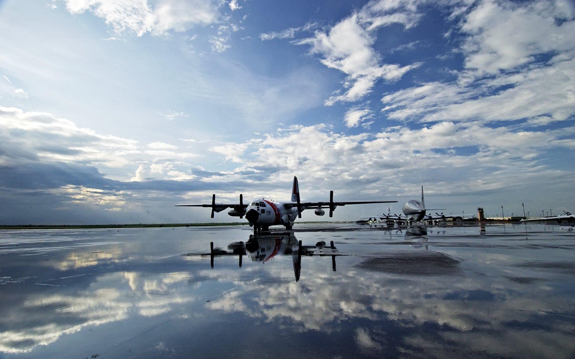 аэродром, самолеты, взлетка