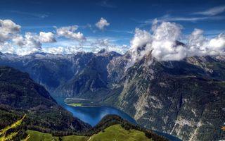 Бесплатные фото горы,скалы,камни,тучи,облака,деревья,елки