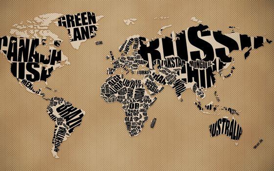 мир, планета, газета, материки, страны