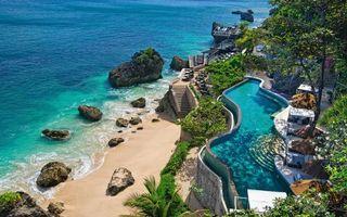 Бесплатные фото море,берег,камни,песок,лестницы,бассейн,беседки