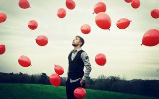Фото бесплатно шары, человек, воздух