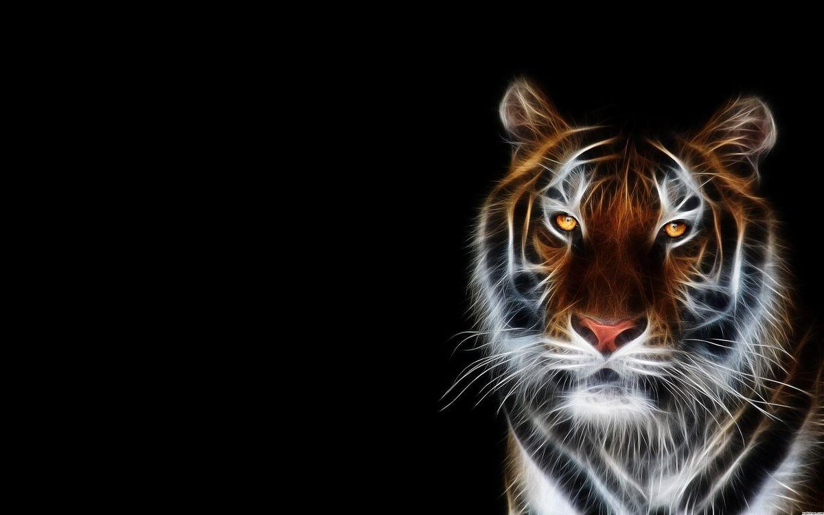 Фото бесплатно тигр, 3d, art - на рабочий стол