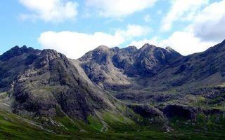 Бесплатные фото трава,горы,скалы,вершины,небо,облака