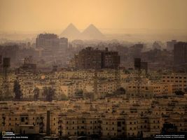 Бесплатные фото египет,пирамиды,город,дома,здания,песок,прожектор