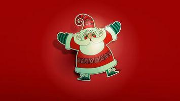 Photo free Santa Claus, background, red
