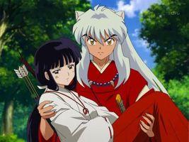 Бесплатные фото inuyasha,kikyo,demon,long hair,red,аниме
