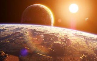 Заставки новые миры, солнце, планета