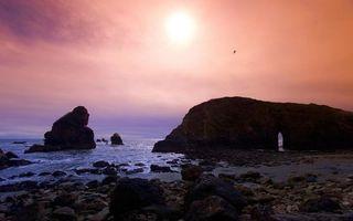 Заставки пляж, камни, скалы