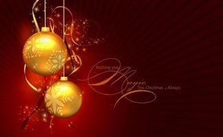 Бесплатные фото шары,снежинки,цвет,золотой,фон,бардовый,надпись