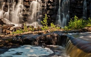 Бесплатные фото водопад,брызги,ручей,лес,трава,овраг,летний
