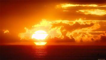 Бесплатные фото закат, желтий, облака, темний, вода, море, природа