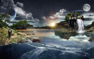 Бесплатные фото новый мир,жизнь,новая земля,планеты,человек,животные,дом