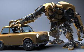 Фото бесплатно авто, фары, робот