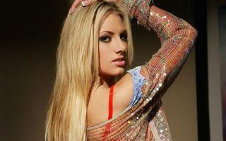 Фото бесплатно блондинка, волосы, длинные