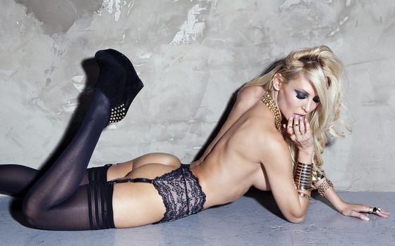 Фото бесплатно блондинка, нижнее, белье