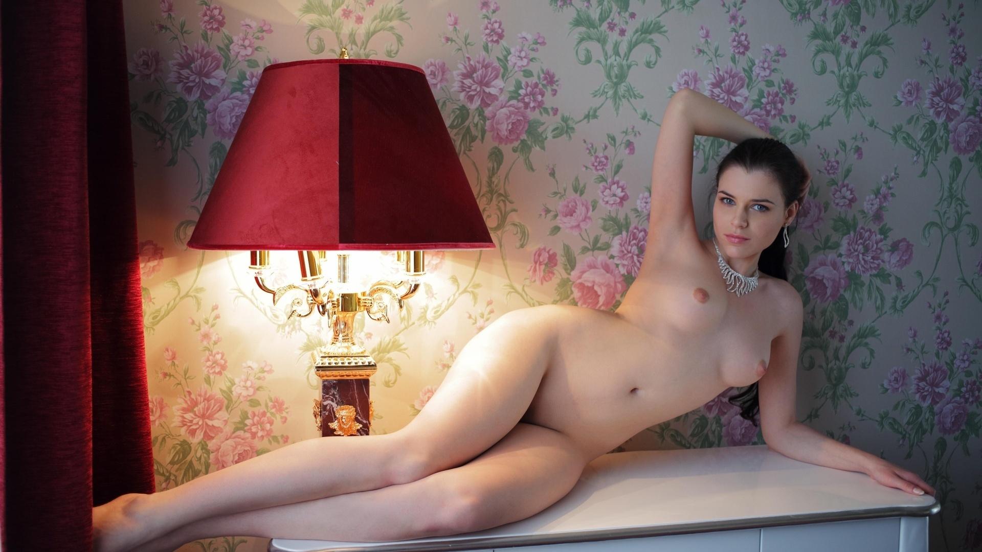 девушка, голая, груди