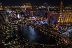 Фото бесплатно Las Vegas, Nevada, сша, ночь, огни, город