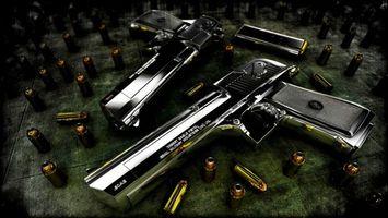 Заставки оружие, пистолет, пули, пара, убойное