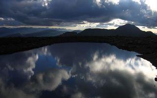 Заставки озеро, вода, облака