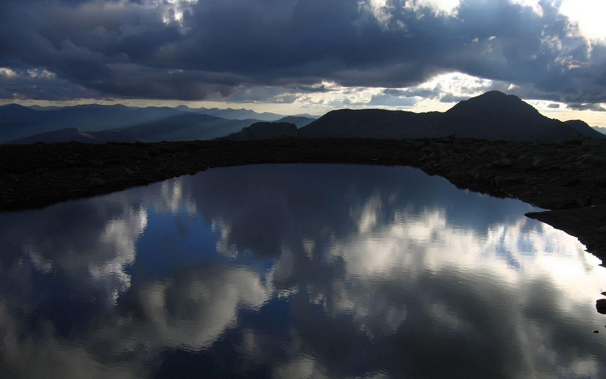 Фото бесплатно озеро, вода, облака - на рабочий стол