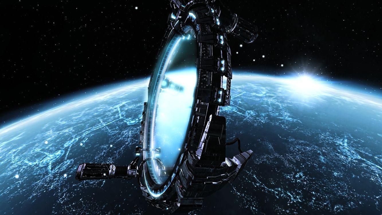 Фото бесплатно планета, земля, солнце, спутник, орбита, строение, звезды, космос, космос