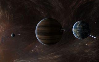 Заставки планеты, звезды, метеориты, невесомость, вакуум, темнота, космос