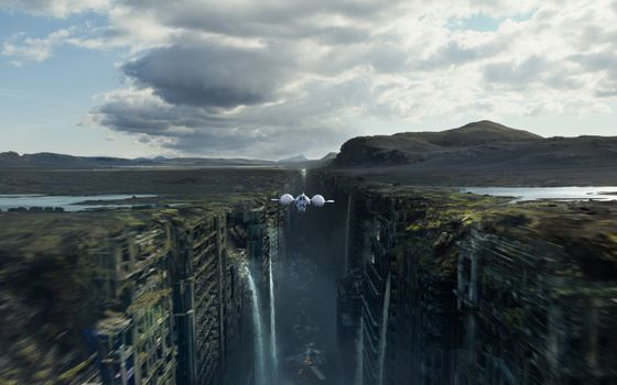 Photo free after earth, the city, the gorge