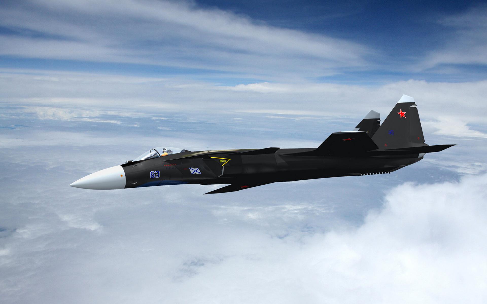 самолет, истребитель, черный