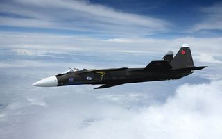 Фото бесплатно самолет, истребитель, черный