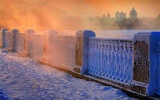 Фото бесплатно снег, зима, дома