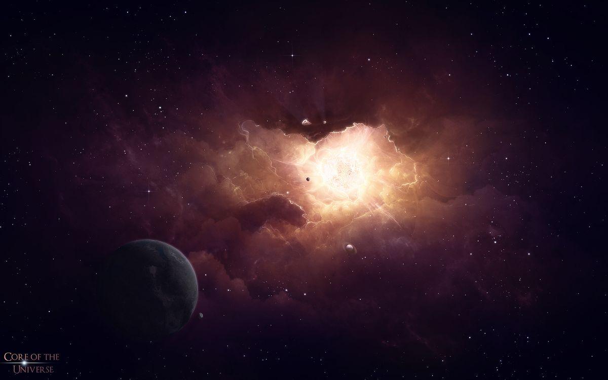 Фото бесплатно Ночь, Кольца, Галактики - на рабочий стол