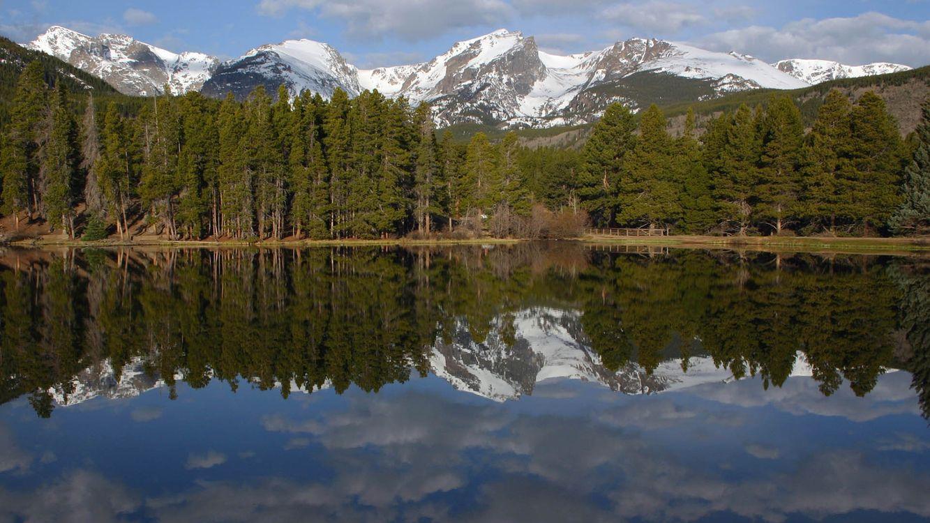 Фото бесплатно вода, озеро, лес - на рабочий стол