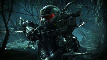Бесплатные фото crysis 3,крайзис,воин,солдат,шлем,арбалет,стрела