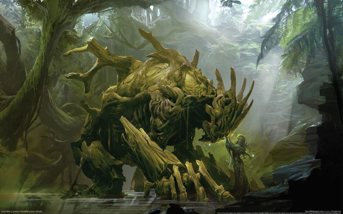 Обои дух лісу, монстр, ліс картинки на телефон
