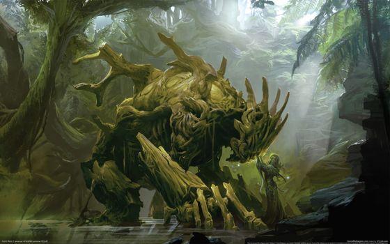 Фото бесплатно дух лісу, монстр, ліс