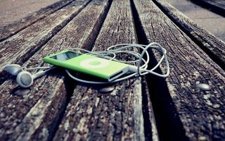 Photo free mp3, player, light green