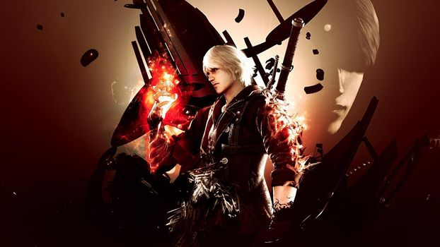Бесплатные фото devil may cry,donate,demon,red,white hair,man,игры