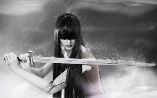 Фото бесплатно брызги, девушка, капли