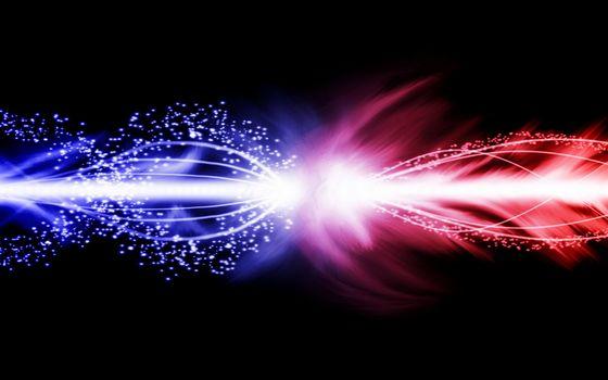 Фото бесплатно фон, черный, линии, свет, цвет, синий, красный, поток, частицы, разное