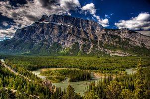 Бесплатные фото горы, лес, деревья, вода, река, облака, природа