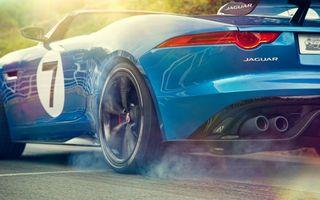 Обои jaguar, синий, спортивный, задняя, часть, авто, спойлер, цифра 7, кабриолет, старинный, спорткар, резина