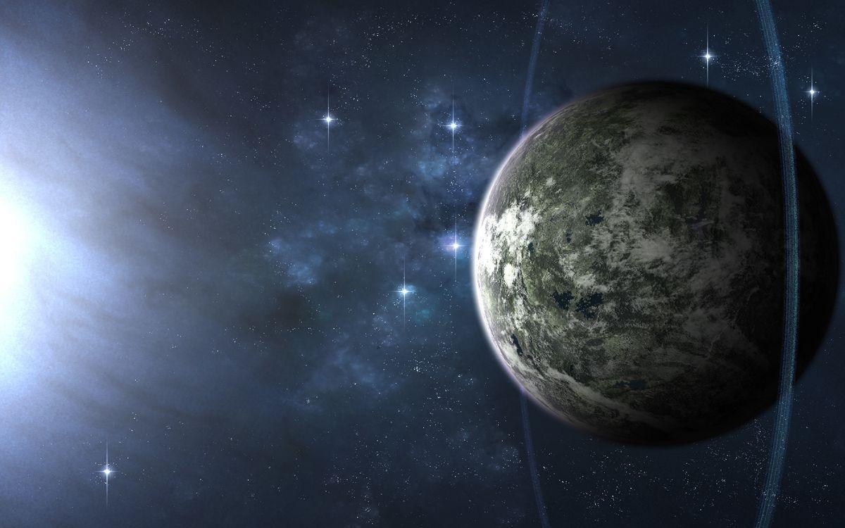 Обои планета, кольца, орбита картинки на телефон